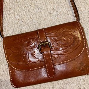 Patricia Nash Torri Tooled Leather Crossbody bag